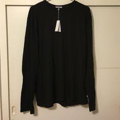 Black James Perse long sleeve shirt 4 Black James Perse long sleeve shirt 4 James Perse Tops Tees - Long Sleeve