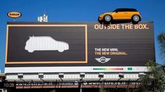 Mini Cooper is one of the best brands as advertising. Amazing Mini Cooper's guerrilla marketing strategies attracted people and accelerated the brand value. Guerilla Marketing, Street Marketing, Marketing Tactics, Marketing And Advertising, Marketing Ideas, Ads Creative, Creative Advertising, Creative Journal, Effective Ads