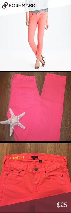 ⭐️SALE⭐️J Crew Coral Matchstick Jeans J Crew brand stretch Matchstick Jeans. Size 24. GUC. I absolutely love these! Such a pretty color! J. Crew Pants Skinny