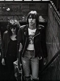 The Ramones Joey Ramone and Johnny Ramone photographed by Bob Gruen