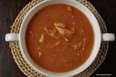 Crockpot: romige tomatensoep met kip - Lovemyfood.nl