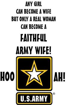 I am a faithful army wife who LOVES her soldier