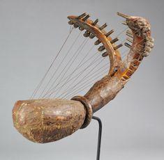 Superbe et rare harpe double Est du Congo rdc - East drc Congo double Harp MC0402