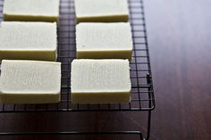 DIY soap using coconut milk!  This would make excellent Xmas presents.