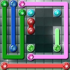 Connect all #identical #gems and fill up the grid to complete #levels in this #challenging #puzzle #game! The are lots of levels with grid sizes ranging from 5x5 to 10x10!