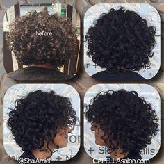 fun short haircut for curly hair by Shai Amiel www.ShaiAmiel.com