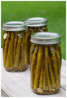 Pickled and peppered asparagus