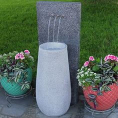 Sunnydaze Lighted Stone Springs Outdoor Water Fountain Concrete Fountains, Garden Water Fountains, Water Garden, Outdoor Fountains, Cascade Water, Waterfall Features, Waterfall Fountain, Backyard Water Feature, Thing 1