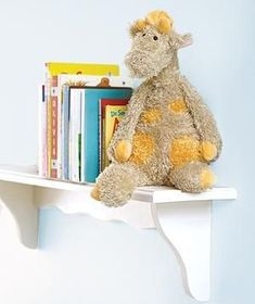 Stuffed Animal as Bookend | To ensure your child's favorite books stand at attention: Replace the stuffing with dried beans to weigh down the toy, sew up the opening, and display on a shelf. You'll end up with a sturdy, furry guardian of Goodnight Moon.