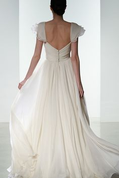 This gown has great movement for walking down the aisle and a flattering silhouette for any body type. Dress: Amsale Spring 2016 Collection