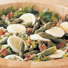Hot Bacon Asparagus Salad Allrecipes.com