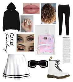 """""""Untitled #5"""" by ene-andreea on Polyvore featuring JunaRose, Dr. Martens, Moschino and Dickies"""