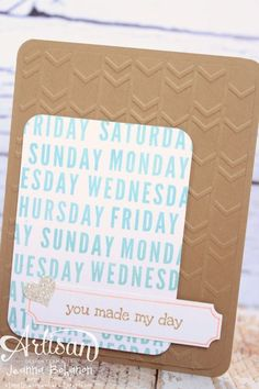 Card created using Project Life by Stampin' Up! by Jeanna Bohanon