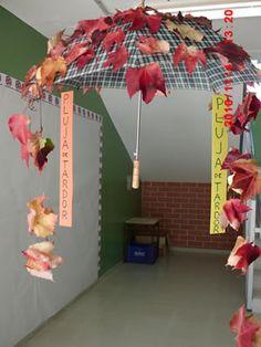 Podzimní deštník - dekorace.
