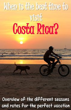 Find out when is the best time to visit Costa Rica which largely depends on the traveler. Read about the best times to go if you're on a budget, if you want to visit beaches, go wildlife watching and more