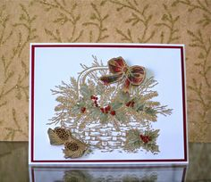 Pinecones and Holly marybethstimeforpaper