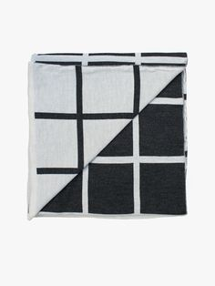 Grid Throw - Charcoal/Natural | Hello Polly