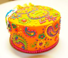 Paisley is my favourite! 1st Anniversary Cake, Paisley Cake, Paintball Party, Vintage Birthday Cards, Types Of Cakes, Sugar And Spice, Mandala Design, Butter Dish, Themed Cakes