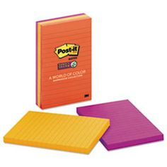 #Pads in #Marrakesh Colors, 4 x 6, Lined, 90/Pad, 3 Pads/Pack MMM6603SSAN
