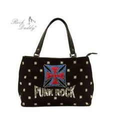 Sac punk rock a paillette
