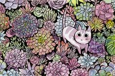 Succulent Kitties! These will be available as prints at CTNexpo! Find me at T054 :)