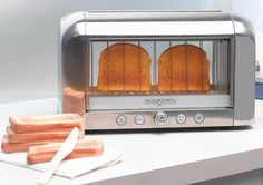 Your toast will be the perfect shade of brown with this transparent toaster.