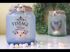 Windlichtjes maken met modpodge - YouTube Vintage Love, Diy Crafts, Blog, Tutorials, Youtube, Decor, Decoration, Make Your Own, Homemade
