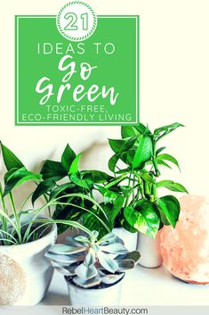 Ready to go green? Check out these green living ideas for a sustainable lifestyle. Ditch toxic chemicals and harmful products for your home and the earth. Eco Friendly Makeup, Eco Friendly Cleaning Products, Green Life, Go Green, Eco Label, Green Living Tips, Green Wallpaper, Eco Friendly House, Sustainable Living