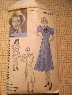 Hollywood 1293 featuring Bette Davis | 1930s Hollywood Pattern