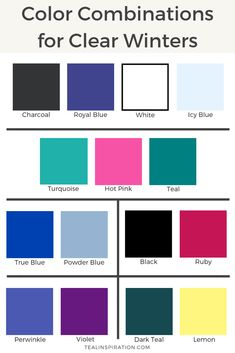 Color Combinations for Clear Winters