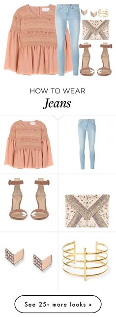 """""""In the end, what does happy people have that we don't"""" by kabylou on Polyvore featuring See by Chloé, Frame Denim, Gianvito Rossi, LULUS, FOSSIL and BauXo"""