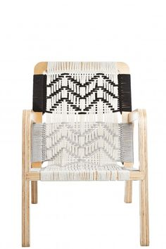 Add eye catching pattern to your space with this @calypsostbarth Navajo inspired woven lounge chair.