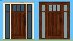 Delightful Large Preview Of 3D Model Of Andersen Windows Craftsman Bungelow Style   Entry  Door With Sidelights