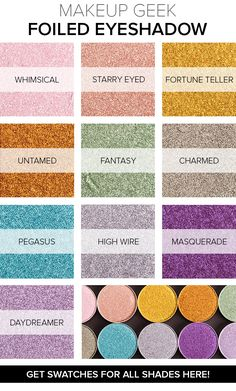 New Makeup Geek Foiled Eyeshadows Photos & Swatches by Temptalia! Click to all the shades!