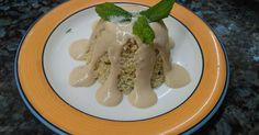 από την Eleni Kariofilli Υλικά - 1 κούπα κεχρί - 2 κούπες νερό - αλάτι - δυόσμο Για τη σάλτσα - 2-3 κουταλιές ταχίνι...