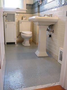 Penny floor tiles
