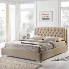 Amelia Queen Fabric Bed MOD-5036