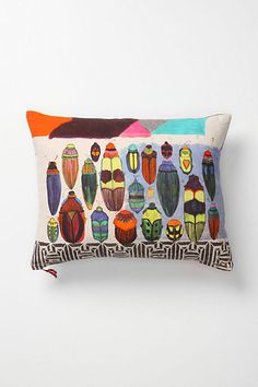 The kind of bugs that are okay for the home. Avenida Pillow, Insects #anthropologie