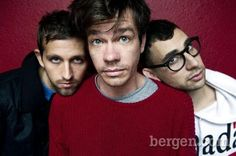 Andrew Dost, Nate Ruess and Bergen County's Jack Antonoff of the band Fun. (AP Images)