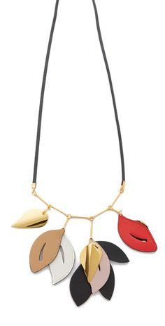 Marni Leather Necklace   SHOPBOP