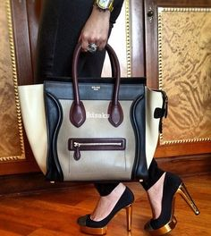 56d1b1af3f9 gorgeous Celine handbag- I like this colour combo Celine Handbags, Celine  Bag, Celine