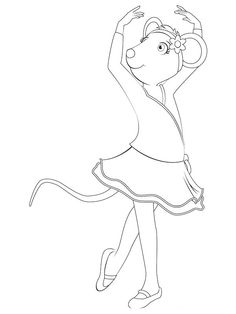 Cartoon Dancing Coloring Pages For Kids Printable Ballet And Ballerina