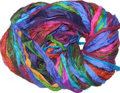 10 balls Fringe Ribbon Angelika yarn col 802 Teal Purple Sale!