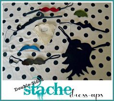 felt mustaches  -blog - bugaboo, mini, mr & me ---- note - i made one myself out of an old hairpiece for a Viking school costume It worked great.
