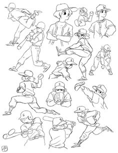 baseball study. by itssangman on deviantART ✤ || CHARACTER DESIGN REFERENCES | キャラクターデザイン |
