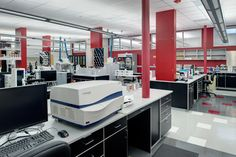 A 43,000 SF warehouse space was converted into medical research laboratory space and offices.