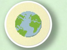 Earth. Cross Stitch Pattern. PDF File by andwabisabi on Etsy