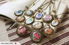 HANDMADE VINTAGE INSPIRED DOMED NECKLACE? NZD$30/each