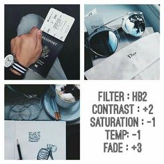 VSCO Cam Filter Settings for Instagram Photos | Filter HB2  Dark Blueish Effect