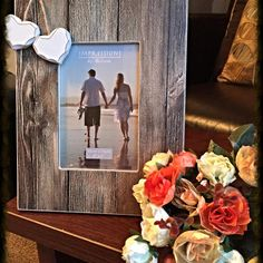 2 Heart Distressed Photo Frame